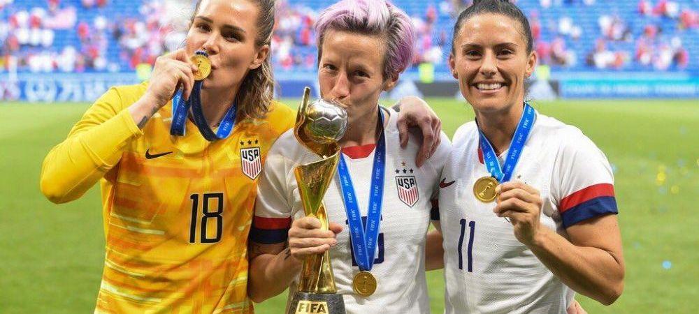 Jucatoarele din nationala feminina de fotbal a SUA si-au dat in judecata propria federatie si cer daune de 66 de milioane de dolari!