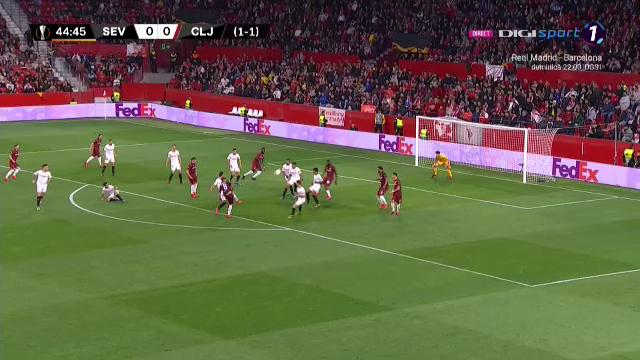Minutul de aur al CFR-ului la Sevilla! 3 ocazii in cateva zeci de secunde! Cum a ratat CFR-ul golul care o putea trimite in RAI