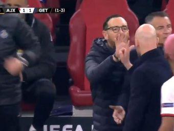 Meci INTENS intre Ajax si Getafe! Antrenorii ambelor echipe s-au luat la CEARTA pe teren