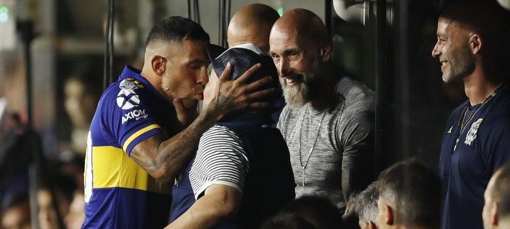 Imagini SENZATIONALE cu Tevez si Maradona! Boca Juniors a luat al 27-lea titlu din istorie, iar cei doi si-au dat un PUPIC! :) Cum au fost surprinsi