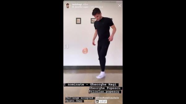 Ianis si Gica Hagi au raspuns provocarii! Cum au jonglat cei doi cu hartia igenica! VIDEO senzational pe muzica lui Jennifer Lopez