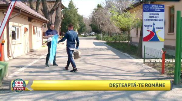 Firtulescu, exemplu pentru olteni! Fotbalistul a donat pentru spitalul de Neuropsihiatrie din Craiova