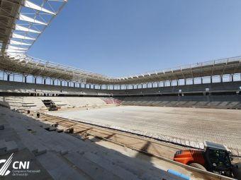 NOI IMAGINI | Coronavirusul nu sta in calea stadioanelor din Bucuresti! Ce culoare au scaunele montate in Ghencea
