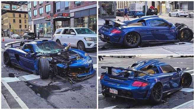 Si-a facut praf Porsche-ul de 800 000 de euro in centrul New York-ului! E ireal ce a facut soferul masinii de lux pe urma