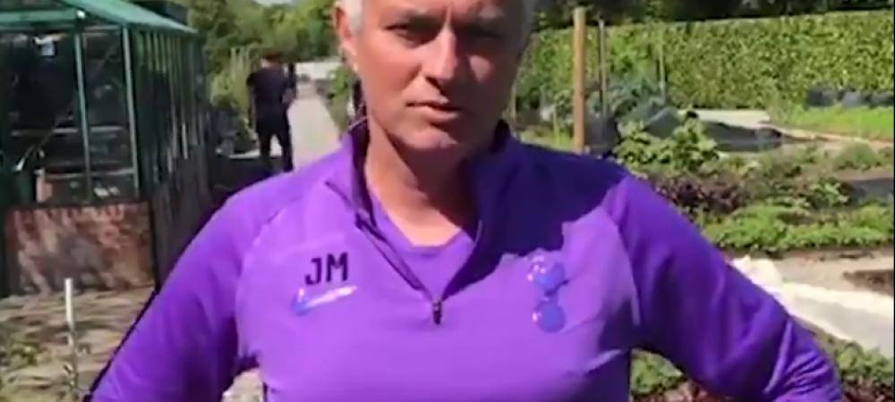 Jose Mourinho va livra alimente pentru persoanele izolate din cauza Covid-19! VIDEO cu managerul lui Tottenham direct din gradina! Ce spune despre gestul sau