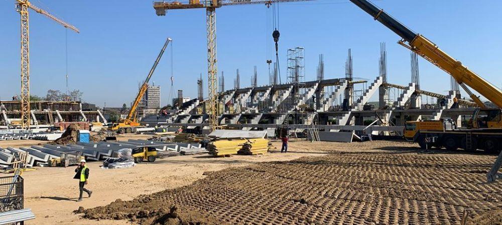 Imagini spectaculoase din drona de la noul stadion Giulesti! Cand va fi gata arena