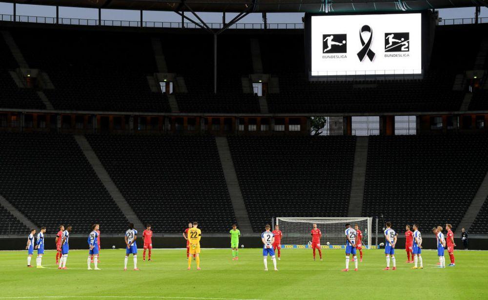 Imaginea ZILEI in Bundesliga! Cum s-a tinut momentul de reculegere pentru victimele coronavirusului in derby-ul Berlinului