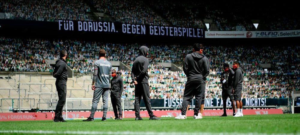 13 000 de oameni la meciul lui Gladbach, desi s-a jucat cu portile INCHISE! Ideea fantastica a clubului! Ce s-a intamplat pe stadion
