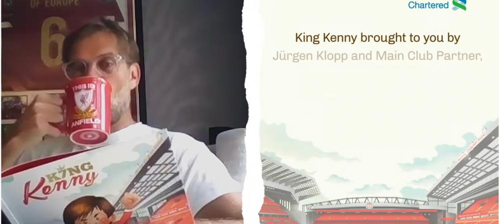 Fanii lui Liverpool sunt innebuniti! Klopp! POVESTILE nemuritoare de pe Anfield, citite de superantrenorul german. VIDEO