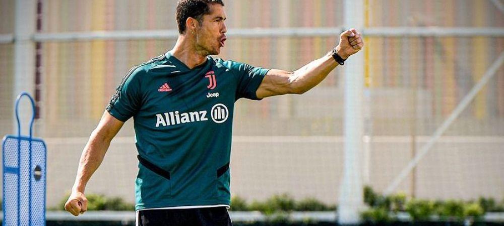 Ronaldo face spectacol la antrenamentele lui Juventus! Portughezul s-a reprofilat si a aruncat la cosul de baschet   VIDEO