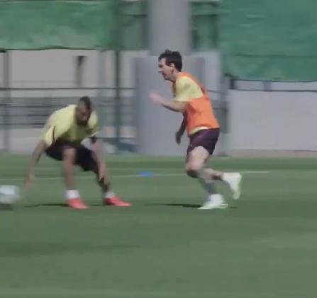 Messi, in forma de zile mari! Argentinianul a facut spectacol la antrenamentul Barcelonei: Ter Stegen nu a avut nicio sansa