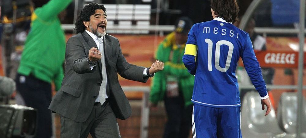 """A jucat impotriva lui Maradona si a lui Messi, acum si-a ales PREFERATUL: """"Am cerut schimbare dupa 15 minute!"""""""
