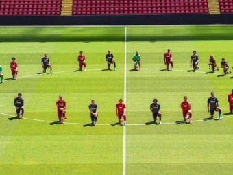Jucatorii lui Liverpool, in genunchi pe Anfield! Tot mai multi sportivi reactioneaza dupa moartea lui George Floyd