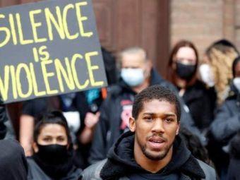 "VIDEO: Anthony Joshua, surprins la proteste! ""Rasismul este pandemic!"" Ce mesaj emotionant a transmis campionul"