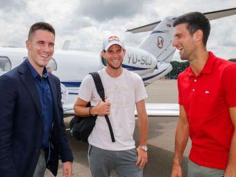 Cartonas galben Novak Djokovic si deget mijlociu aratat de Zverev pentru o pozitie de offside! :)) Cum au jucat fotbal cei mai buni tenismeni ai momentului