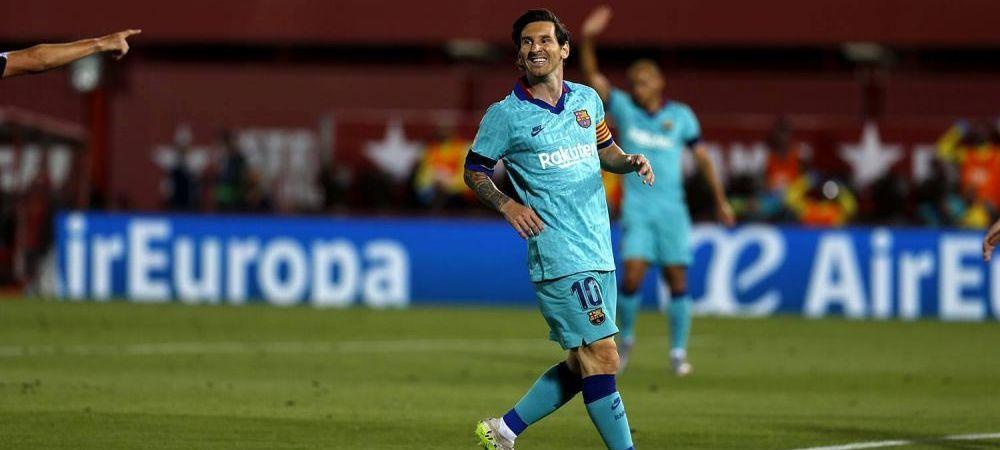 Aproape sa nu-l recunoasca! :) Lionel Messi a revenit la look-ul din tinerete! Aparitie surprinzatoare la Mallorca, unde a stabilit un nou RECORD
