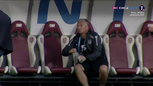 Impietrit pe banca la gol! Reactia lui Dan Petrescu dupa ce a vazut autogolul ireal al lui Popescu