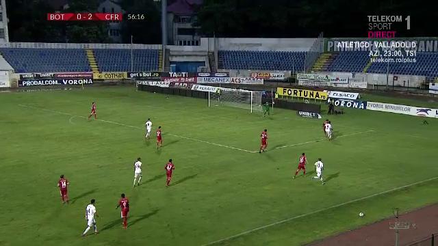 Faza HALUCINANTA in Botosani-CFR! Hankic, la un MILIMETRU de un gol care ar fi ajuns in TOATA Europa! Ce a putut sa faca portarul austriac