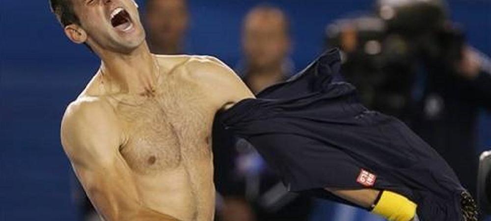 Petrecere fara limite inainte sa ia Covid! Djokovic, party dezlantuit! S-a dezbracat si a facut show pe ring! VIDEO