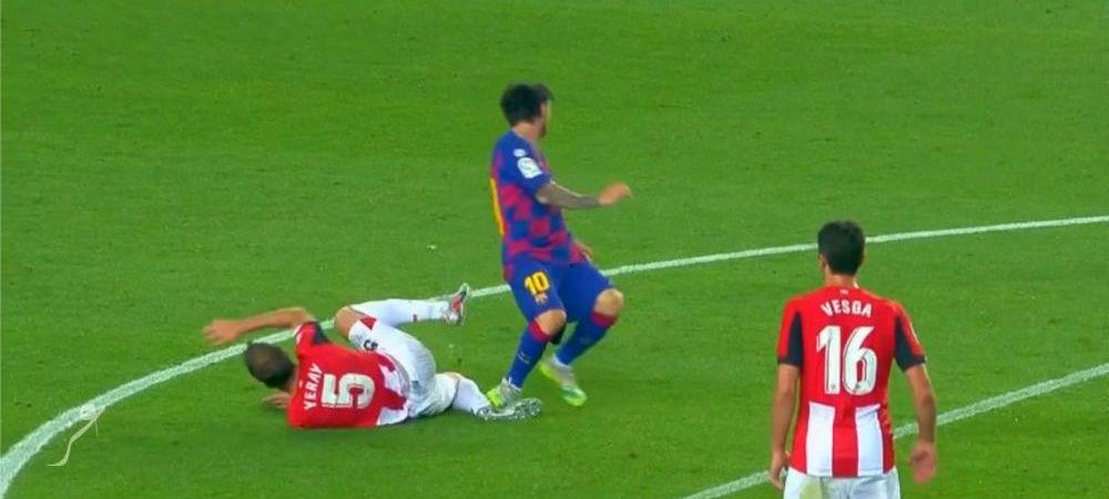 """Messi s-a facut baiat RAU! Faultul de ROSU care a trecut NEOBSERVAT! Intrare criminala a argentinianului in meciul cu Bilbao: """"Trebuia eliminat!"""""""