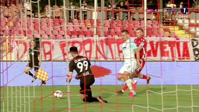 HOPAAA! Ce faci, Vlad? :) Portarul FCSB, aproape sa comita o gafa URIASA in fata lui Dinamo! A scapat mingea la o faza banala