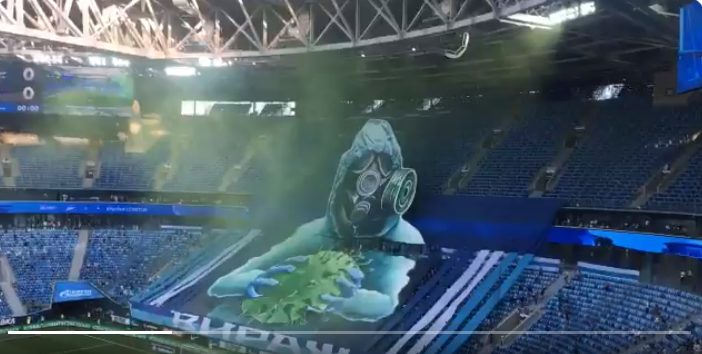 Fotbalul, peste Covid-19! Coregrafie 3D SUPERBA realizata de fanii lui Zenit la ultima partida! VIDEO