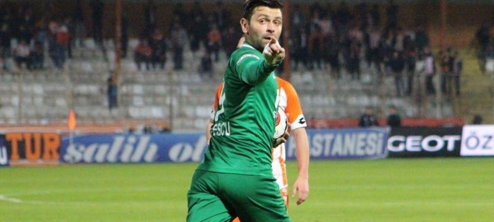 Raul Rusescu a inscris un nou gol in Turcia! Atacantul lui Giresunspor a ajuns la 12 reusite si e al doilea cel mai bun marcator din campionat