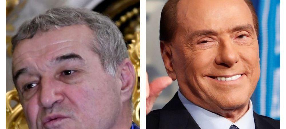 """Unul e Gigi Becali! :) Reactia vehementa a patronului de la FCSB cand a fost comparat cu italianul: """"Eu sunt Berlusconi? . El isi pune par in cap, face operatii estetice"""""""