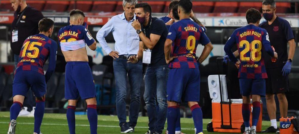 Imaginea care arata TOTUL! Barcelona, mai fracturata ca niciodata! Ce au surprins camerele in timpul meciului cu Atletico