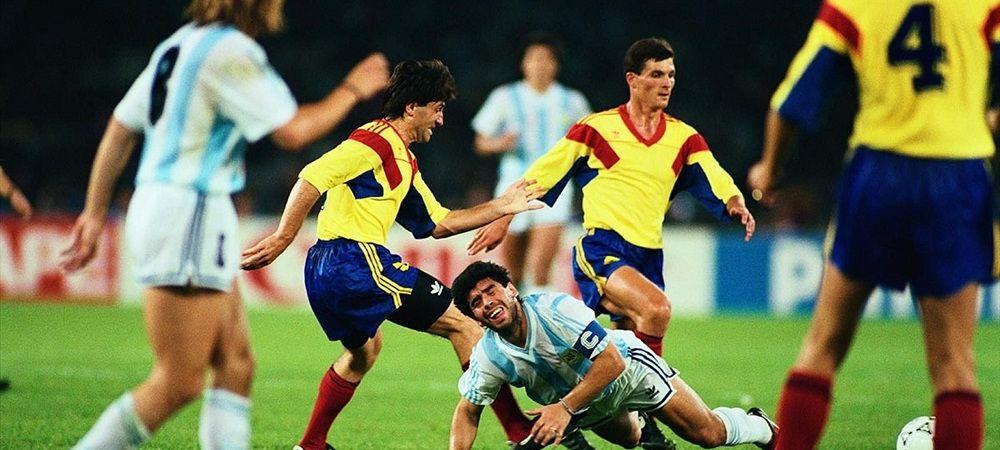 """El este fotbalistul roman pe care Maradona nu-l poate uita! """"Mi-a rupt glezna stanga!"""" Ce-si aminteste de la meciul cu Romania de la Mondialul din 1990"""