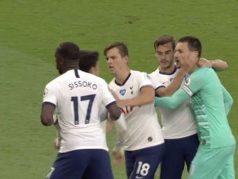 Imagini INCREDIBILE sub ochii lui Mourinho! Son si Lloris au sarit la BATAIE! Portarul francez, tinut de coechipieri