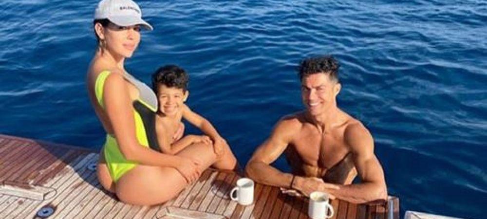 Ronaldo se relaxeaza la bordul unui iaht urias! Cat plateste portughezul pentru momentele de rasfat alaturi de Georgina