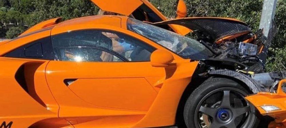 Stalpii nu se dau jos cu 1 MILION de euro! Fostul pilot de F1 care si-a facut PRAF super-bolidul de lux. Oare cat costa reparatia?
