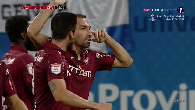 STAPANUL golurilor cu capul! Vinicius, din nou decisiv pentru CFR Cluj! Cum a marcat fundasul in FINALA de la Craiova