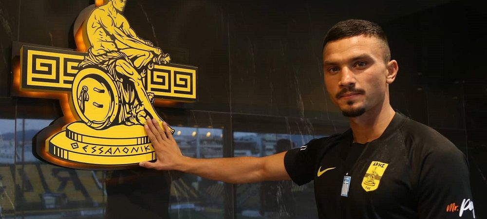 Cristi Ganea, prezentat oficial la Aris Salonic de un campion european! Atacantul se pregateste de preliminariile Europa League! Cat va castiga in Grecia