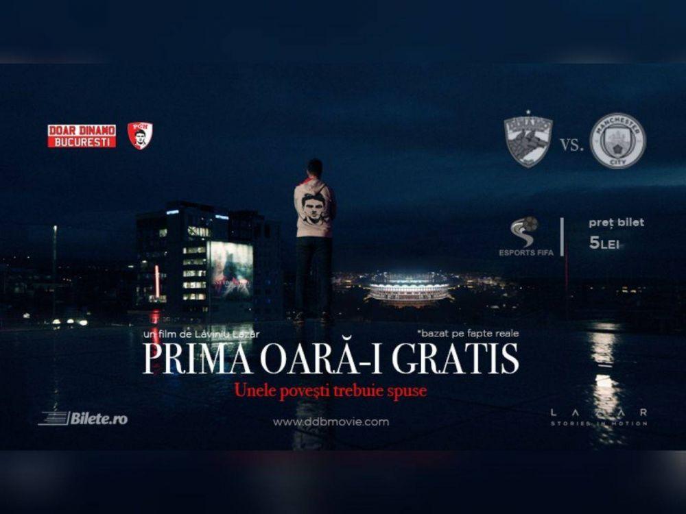 Dinamovistii fac FILM dupa aroganta ISTORICA de la Steaua-Manchester City, cand TOATA tribuna a ridicat placute cu 'Doar Dinamo Bucuresti'! Cum a fost posibila coregrafia care a facut inconjurul lumii