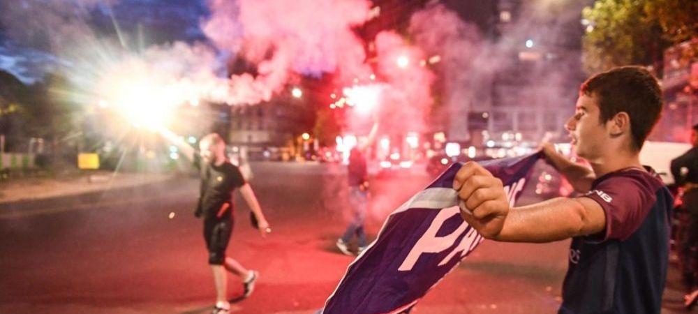 NEBUNIE la Paris dupa calificarea lui PSG in finala Champions League! Petrecerea a inceput la pauza! Imagini fantastice