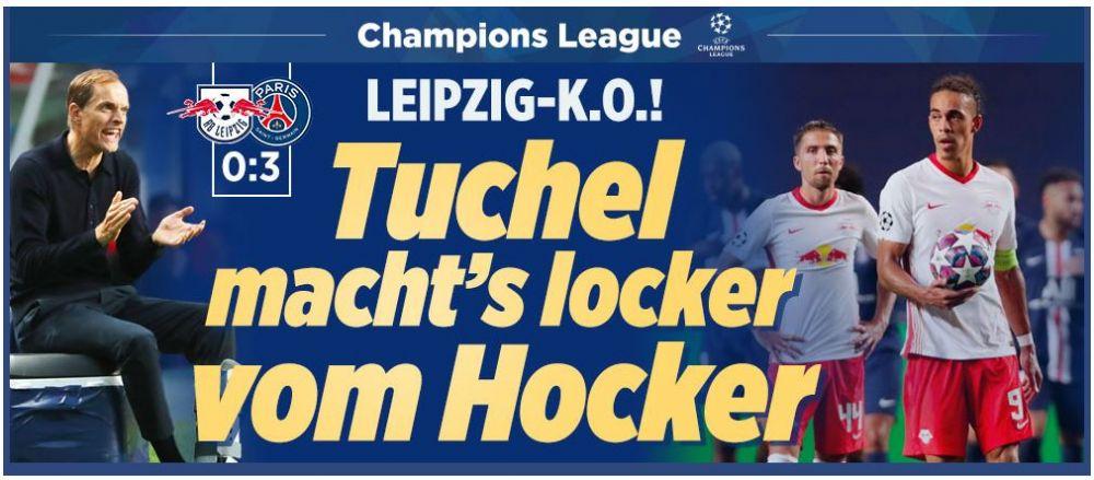 "Bild: ""Tuchel s-a calificat usor... de pe scaunel!"" Reactii incredibile in presa dupa prima calificare a lui PSG in finala Champions League!"