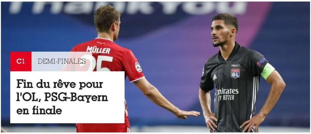 "France Football: ""Visul s-a sfarsit!"" Reactiile jurnalistilor din Franta si Germania dupa calificarea lui Bayern in finala Champions League!"