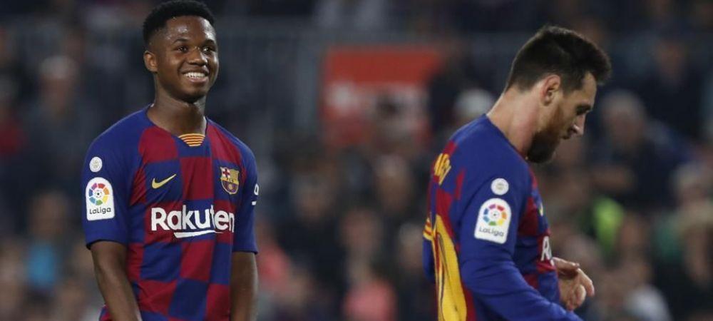 Inca o lovitura pentru Messi! Ansu Fati a luat o decizie drastica: cu cine s-a inteles pustiul minune al Barcelonei