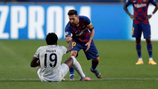 A fost REFUZAT de idolul sau dupa ce a UMILIT-O pe Barcelona! Ce a facut Messi cand Davies i-a cerut tricoul