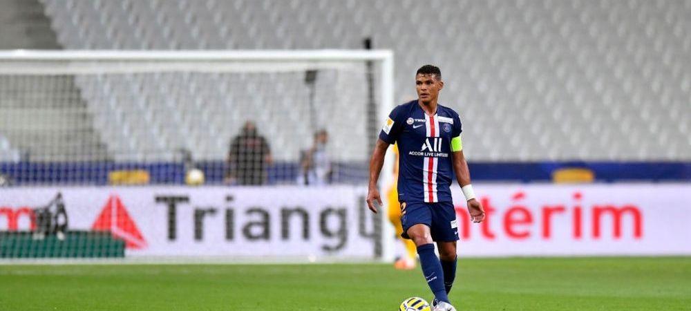 Destinatie surpriza pentru Thiago Silva! Ar fi vrut sa joace cu Zlatan, insa ii va fi adversar in Serie A!Cu cine il va inlocui PSG