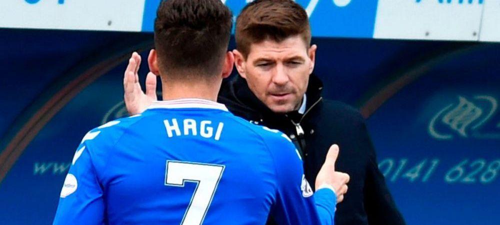 """Steven Gerrard, interventie savuroasa in apararea lui Ianis Hagi! """"A fost cel mai bun de la painea feliata incoace!"""" Cum comenteaza criticile suporterilor"""