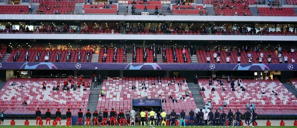 2 romani la finala Champions League! Imagini INCREDIBILE cu stadionul aproape complet gol! Cine a avut acces la meci