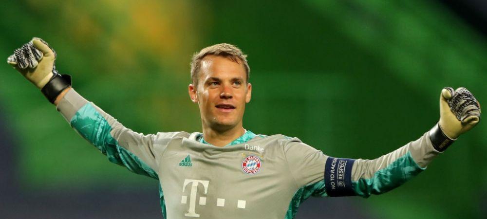 'ZIDUL' Neuer pleaca acasa cu un 'trofeu' doar al lui! Ce a luat capitanul lui Bayern de la stadion! Imagini senzationale de la Lisabona :D
