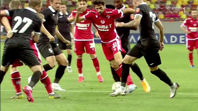 """Penalty REFUZAT pentru Dinamo, desi Kovacs era la doar cativa metri de faza! Craciunescu: """"N-a vrut sa dea! Te duce cu gandul la altceva!"""""""