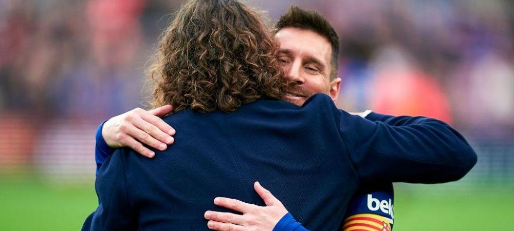 """Legenda Puyol, primul mesaj dupa anuntul ca Messi a cerut sa plece gratis de la Barcelona: """"Sa stii asta, prietene!"""" Ce a facut Luis Suarez dupa ce a vazut tweetul"""