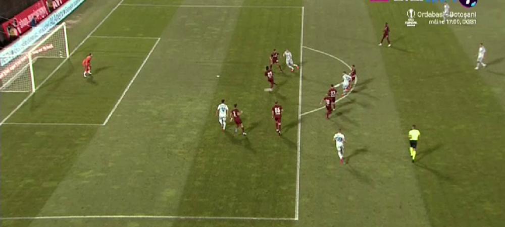 GAFA URIASA a lui Balgradean in minutul 14! A respins balonul prea slab si a lasat poarta goala! Cum le-a pus pe tava golul croatilor