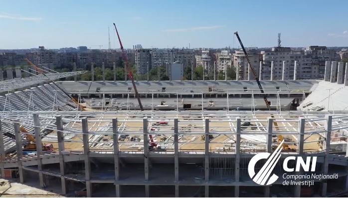 Imagini spectaculoase cu noul stadion al Rapidului! In ce stadiu sunt lucrarile din Giulesti. GALERIE FOTO