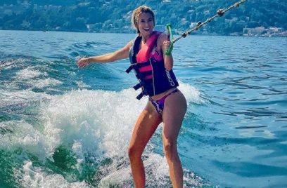 Diletta Leotta e INCANTATOARE si pe apa! Sexy-jurnalista a luat prima lectie de surf, dar NU S-A TERMINAT PREA BINE:)